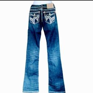 LA idol dark wash boot cut jeans
